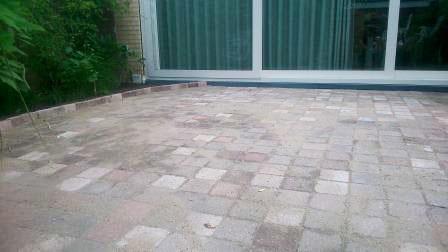 Straatwerk achtertuin in Amstelveen